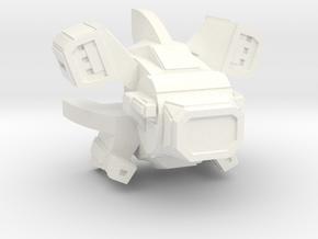 Warbot Drone Gunship in White Processed Versatile Plastic