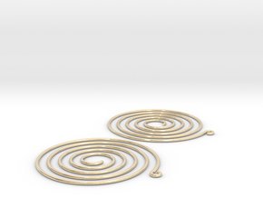 Earrings Spiral 001 in 14k Gold Plated Brass