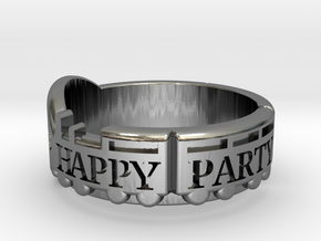 Happy Party Train Tour Ring - Love Live - Aqours in Polished Silver