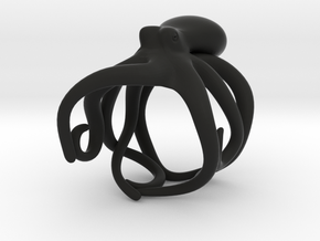 Octopus Ring 21mm in Black Premium Strong & Flexible