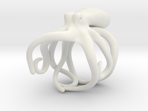 Octopus Ring 19mm in White Premium Versatile Plastic