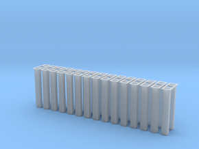 1/64 5000 Grain leg trunking 15pcs in Smooth Fine Detail Plastic
