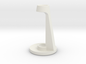 Customizable Toothbrush Holder in White Natural Versatile Plastic
