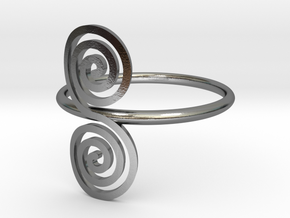 """Celtic """"life and death"""" double spiral ring in Polished Silver"""