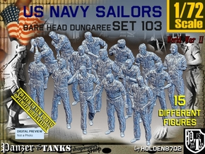 1/72 USN Dungaree Barehead Set103 in Smooth Fine Detail Plastic