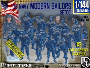 1/144 USN Modern Sailors Set001 in Smooth Fine Detail Plastic