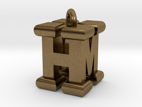 3D-Initial-HM in Natural Bronze