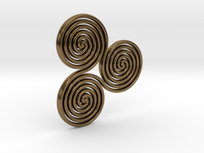 "Celtic ""life and death"" triple spiral pendant in Polished Bronze"
