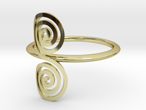"Celtic ""life and death"" small spiral ring in 18k Gold Plated Brass"