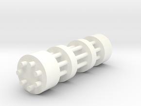 Gatling Gun in White Processed Versatile Plastic