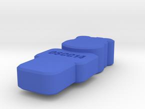 OSCC14 Hippo Pendant in Blue Processed Versatile Plastic