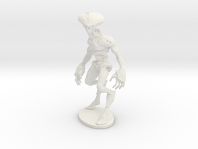 Alien Brute in White Natural Versatile Plastic: Small