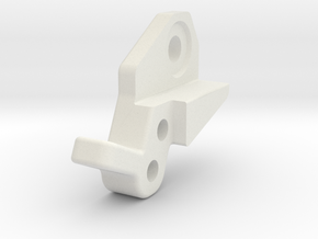 Losi Micro Rock Crawler Shock Mount Right in White Natural Versatile Plastic