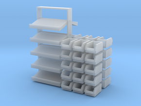 1/64 Rack Bins in Smooth Fine Detail Plastic