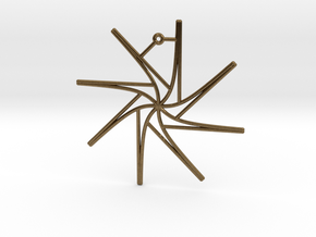 Tangent Ornament in Natural Bronze