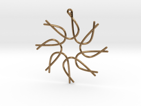 Cosecant Ornament in Natural Brass