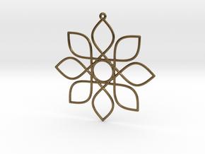 Cosine Ornament in Natural Bronze