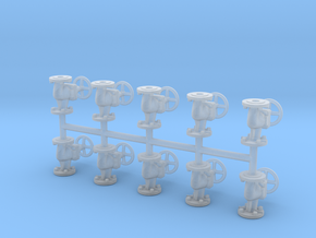 Globe valves (10pcs) in Smooth Fine Detail Plastic