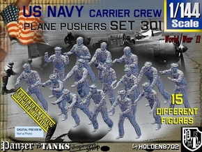 1/144 USN Carrier Deck Pushers Set301 in Smooth Fine Detail Plastic