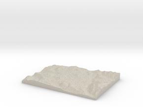 Model of Pillar Lake in Natural Sandstone