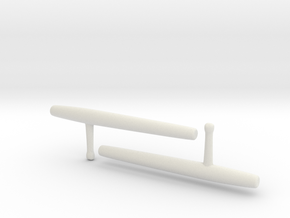 Tonfa - 1:3 in White Natural Versatile Plastic