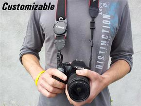 Lens Cap Holder (customizable) in White Strong & Flexible