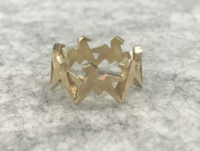 Origami Geometric Horse Ring Sizes 6-10 in Natural Brass: 7 / 54