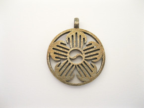 Immortal Flower Pendant in Stainless Steel