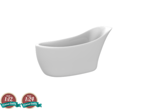 Miniature Amalfi Bathtub -  Victoria + Albert in White Natural Versatile Plastic: 1:24