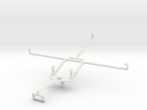 Controller mount for Xbox One S & Dell Venue 8 Pro in White Natural Versatile Plastic