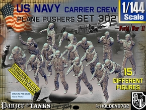 1/144 USN Carrier Deck Pushers Set302 in Smooth Fine Detail Plastic