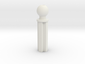Mixel Rod 2 Length in White Natural Versatile Plastic