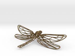 Dragonfly Necklace   Odonata N° 1 in Natural Bronze
