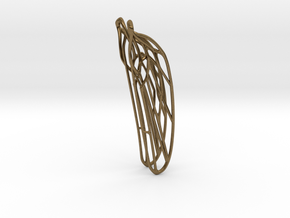 Dragonfly ear wing S Odonata N° 1 in Natural Bronze