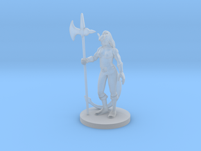 Tiefling  Female Barbarian in Smooth Fine Detail Plastic