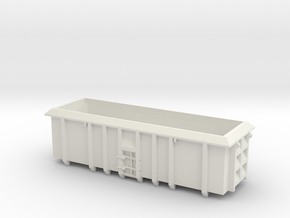 ASW Scrap Wagon PO-022e OO Gauge in White Natural Versatile Plastic