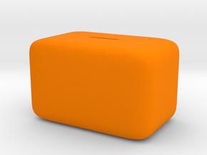 Donation Box Piggy Bank in Orange Processed Versatile Plastic