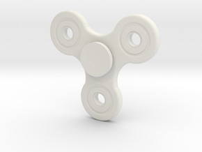 No spin Fidget spinner in White Natural Versatile Plastic