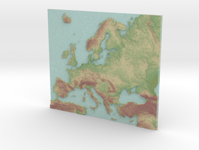 Europa map Color in Full Color Sandstone
