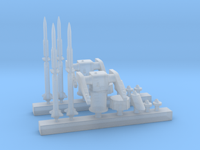 1/400 MK10 Terrier Missile Launcher KIT x2 in Smooth Fine Detail Plastic