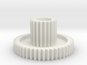 Hunter/Galaxy Idler gear 20T:48T for Ball bearing in White Natural Versatile Plastic