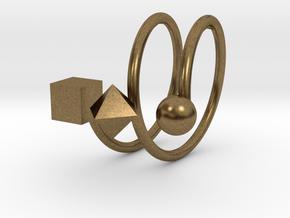 Trispirale size 58 in Natural Bronze