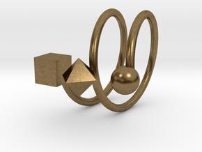 Trispirale size 56 in Natural Bronze