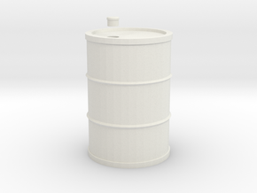 Drum 200 Litre 1:18 in White Natural Versatile Plastic