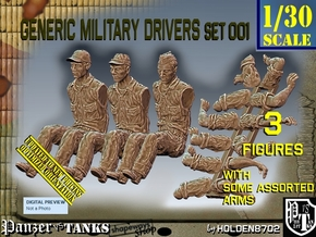 1/30 Military Drivers Set001 in White Natural Versatile Plastic