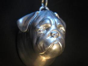 Pug Ornament in Blue Strong & Flexible Polished