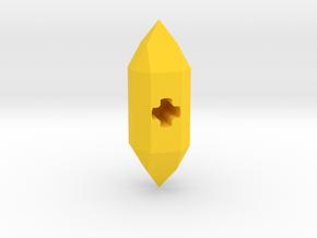 Lightstone (with AxleHole) in Yellow Processed Versatile Plastic