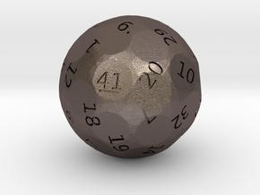 d41 oddball die in Polished Bronzed Silver Steel