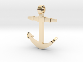 Boat anchor [pendant] in 14K Yellow Gold