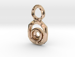 Figure 8 Pendant for 7mm stone in 14k Rose Gold Plated Brass